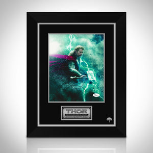 Thor- Holding Hammer/Lightening Jsa Certified Hand-Signed Photo By Chris Hemsworth Custom Frame