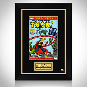 The Mighty Thor #1- True Believers Hand-Signed Comic Book By Stan Lee Custom Frame