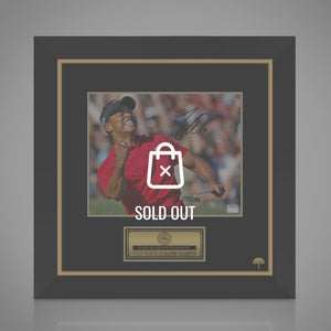 Tiger Woods- 15 Majors Champion Hand-Signed Photo By Tiger Woods  Custom Frame