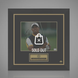 Tiger Woods- Hand-Signed Photo By Tiger Woods Custom Frame