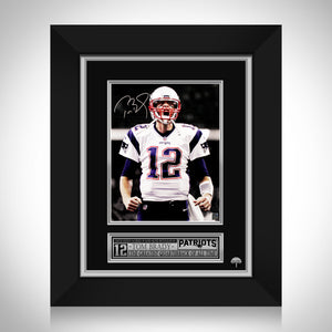 Tom Brady New England Patriots Photo Limited Signature Edition Studio Licensed Custom Frame