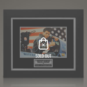 Top Gun Hand-Signed Photo By Tom Cruise Displayed In A Rare-T Exclusive Custom Frame.