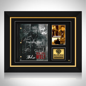 Training Day Movie Script Limited Signature Edition Studio Licensed Custom Frame