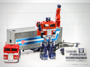 RARE-T Exclusive | '1982 2X TRANSFORMERS OPTIMUS PRIME' Museum Display