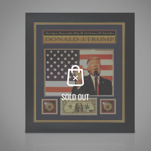 Donald Trump -  1$ Bill Hand Signed By President Of The Usa Rare-T Exclusive Custom Frame
