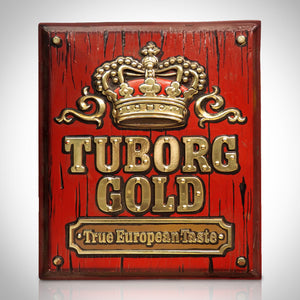 Tuborg Gold Beer Original Vintage Bar Sign/Advertisement