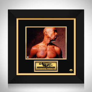 2PAC - Tupac Shakur Bare Chest Photo Limited Signature Edition Studio Licensed Custom Frame