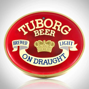 Tuborg Beer Original Vintage Embossed Bar Advertisement