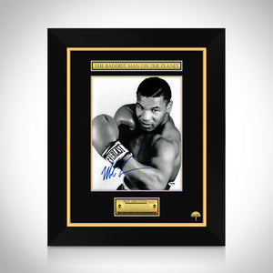 Mike Tyson- 'Posing With Boxing Gloves' Hand-Signed Psa/Dna Witnessed Photo Custom Frame