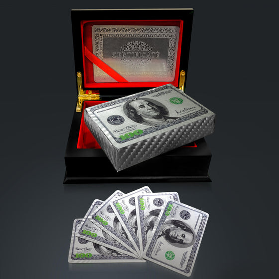 PLATINUM PLATED PLAYING CARDS 100USD Pattern