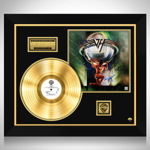 Van Halen 5150 Limited Signature Edition Studio Licensed Gold LP Custom Frame