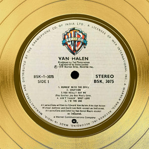 Van Halen Van Halen Gold LP Limited Signature Edition Studio Licensed Custom Frame