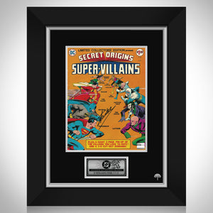 Dc Comics 1975 Secret Origins: Super-Villains Hand-Signed Comic Book By Stan Lee Custom Frame