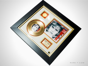 RARE-T Exclusive Limited Edition GOLD 45 'U2 - WAR' Custom Frame