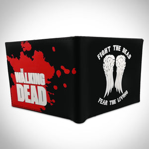 Walking Dead - Fight The Dead Fear The Living Embossed Silicone & Poly Leather Wallet