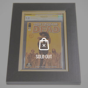 RARE-T Exclusive '#1 WALKING DEAD CGC 9.8 COMIC BOOK - Signed by TEDESCO' Custom Frame