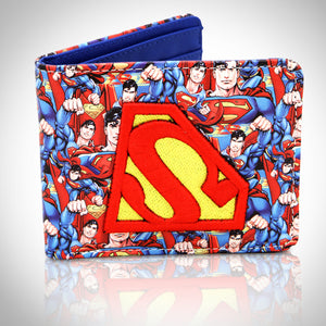 Superman - Old School Embroidered S Wallet