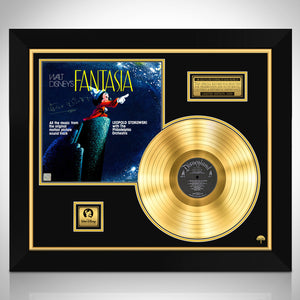 Fantasia Motion Picture Soundtrack Limited Signature Edition Studio Licensed Gold LP Custom Frame