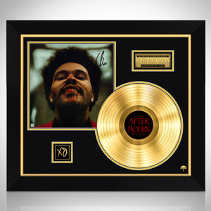 The Weeknd After Hours Gold LP Limited Signature Edition Studio Licensed Custom Frame