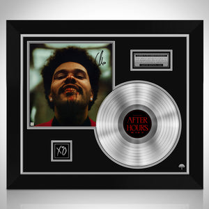 The Weeknd After Hours Platinum LP Limited Signature Edition Studio Licensed Custom Frame