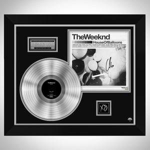The Weeknd House of Balloons Platinum LP Frame Limited Signature Edition Studio Licensed Custom Frame