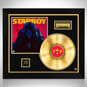The Weeknd Starboy Limited Signature Edition Studio Licensed Gold LP Custom Frame