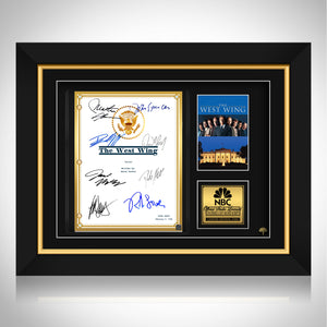 The West Wing Script Limited Signature Edition Studio Licensed Custom Frame