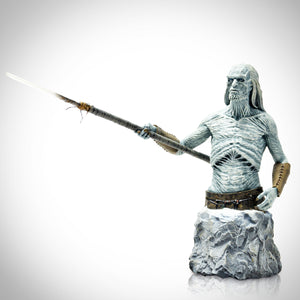 Game Of Thrones- White Walker Holding Spear Sculpted By Gentle Giant Studios Limited Edition Numbered Statue