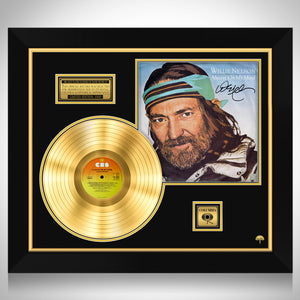 Willie Nelson Always on my Mind Limited Signature Edition Studio Licensed Gold LP Custom Frame