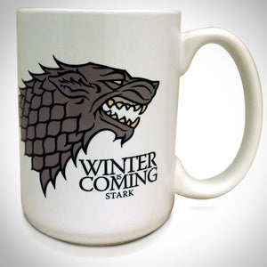 Game Of Thrones Stark Winter Is Coming White Mug