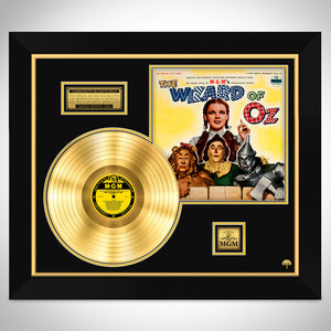 The Wizard of Oz 'Motion Picture Soundtrack' Limited Collector Edition Studio Licensed Gold LP Custom Frame
