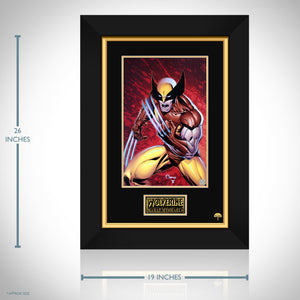 Wolverine Hand-Signed Artwork Print By Artist Marat Mychaels Custom Frame