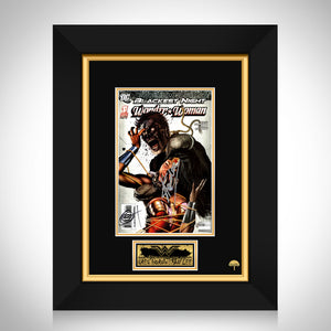 Blackest Night: Wonder Woman (2010) #1 Hand-Signed Comic Book By Greg Horn & Stan Lee Custom Frame