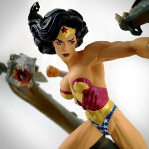 Wonder Woman Vs Hydra- Limited Edition Full-Size Statue Inspired By Artist Adam Hughes