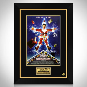 National Lampoon's Christmas Vacation- Beckett Witnessed Signed Mini Poster By Chevy Chase Custom Frame