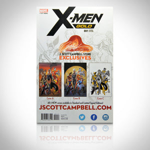 X-Men Gold #1 - Hand-Signed By J. Scott Campbell Comic Book