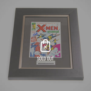 RARE-T Exclusive '#1 X-MEN-1963 PRINT - Hand-Signed by STAN LEE' Custom Frame