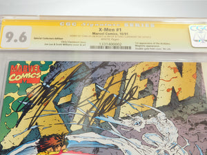 CGC Signature Series 'X-MEN #1-9.6 HANDSIGNED BY STAN LEE, JIM LEE & CHRIS CLAREMONT'