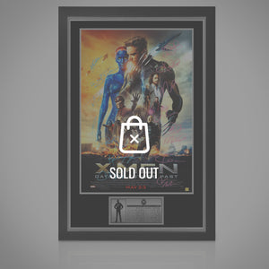 X-Men Days Of Future Past Cast Hand-Signed Poster Displayed In A Rare-T Exclusive Custom Frame
