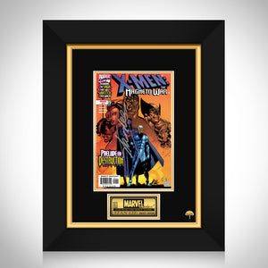 X-Men- 'The Magneto War #1 March 1999' Hand-Signed Comic Book by Stan Lee Custom Frame