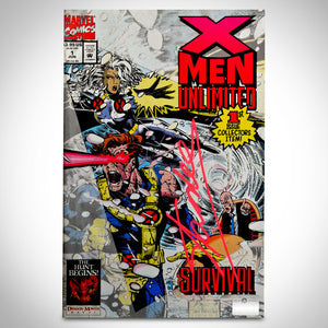 X-Men Unlimited (1993) #1 Hand-Signed Comic Book By Stan Lee Custom Frame