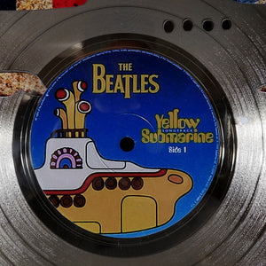 The Beatles- 'Yellow Submarine' Limited Edition Studio Licensed Laser Cut Gold Lp Custom Frame