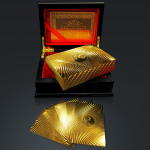 24K Gold Plated Playing Cards- Yin Yang Pattern Gold Plated Playing Cards
