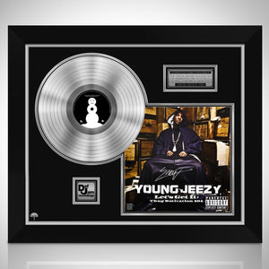 Young Jeezy - Let's Get It: Thug Motivation 101 Platinum LP Limited Signature Edition Studio Licensed Custom Frame
