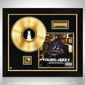 Young Jeezy - Let's Get It: Thug Motivation 101 Gold LP Limited Signature Edition Studio Licensed Custom Frame