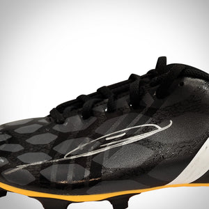 Zinedine Zidane-  Hand-Signed Black Adidas Soccer Cleat By Zinedine Zidane Custom Museum Diplay