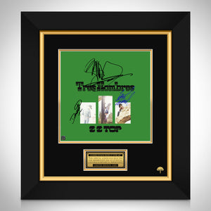 ZZ Top - Tres Hombres Limited Signature Edition Studio Licensed LP Cover Custom Frame