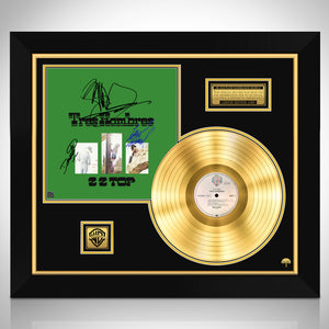 ZZ Top - Tres Hombres Limited Signature Edition Studio Licensed Gold LP Custom Frame