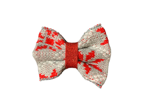 Live 52 Red/Gray Sweater Bow
