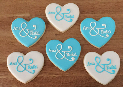 Engagement Heart Cookies - Baking Fun - www.bakingfun.ca